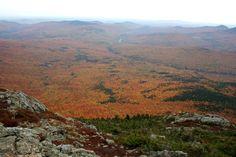 Vue sommet, Massif Bigelow, Maine, USA, octobre 2016