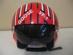 Replica of Goose's helmet from the film Top Gun.