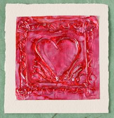 Embossed foil shingles are easy-to-make Valentines