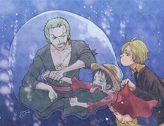 Zoro, Luffy e Sanji One Piece Comic, One Piece Anime, Fanfic One Piece, One Piece Funny, Zoro One Piece, One Piece Ship, One Piece Fanart, One Piece Pictures, One Piece Images