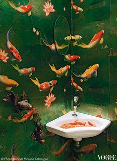 Ein Badezimmer wie im Aquarium                              …