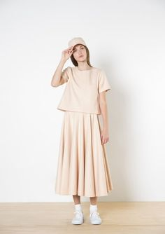 Twenty-Seven Names - Bell Skirt - Peach The Twenties, Peach, Shirt Dress, Casual, Skirts, Inspiration, Shopping, Collection, Dresses