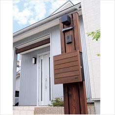 トリプル 機能門柱 【天然木仕様/ K52型】