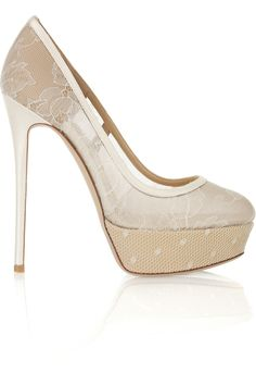 Love these lace pumps from Valentino!