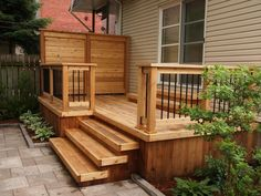 Super Deck Stairs To Patio Front Porches 50 Ideas Backyard Pergola, Diy Patio, Backyard Landscaping, Pergola Ideas, Pergola Kits, Patio Ideas, Backyard Ideas, Landscaping Ideas, Tropical Backyard