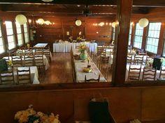 Norris Dam State Park tea room wedding... school themed