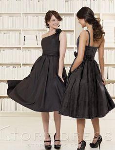 Stunning A-Line One Shoulder Knee-length Taffeta Evening/Cocktail Dress(EV0047)