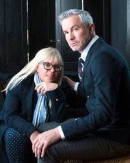 Baz Luhrmann, Gatsby's director, with Catherine Martin, his wife, who designed the sets and costumes.