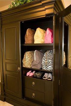 A handbag armoire.  I would die.
