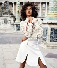 Imaan Hammam Wears 'The Sweetest Touch' By Marc de Groot For Vogue Netherlands September2015 - 3 Sensual Fashion Editorials | Art Exhibits - Women's Fashion & Lifestyle News From Anne of Carversville