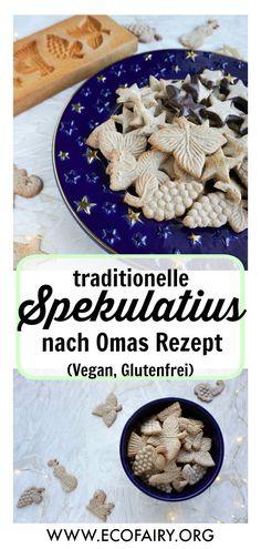 Spekulatius á la Else (vegan, glutenfrei) - Vegan/Vegetarian - Gluten Free Baking, Vegan Gluten Free, Gluten Free Recipes, Vegan Vegetarian, Vegan Snacks, Snack Recipes, Cookies Healthy, Baking Power, Smoothies For Kids