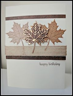 I did a class recently based on the Colourful Seasons set, and wanted a masculine card.... I used the Wood Textures DSP, sta... Masculine Cards, Masculine Birthday Cards, Birthday Cards For Men, Handmade Birthday Cards, Birthday Wishes, Making Greeting Cards, Greeting Cards Handmade, Die Cut Cards, Scrapbooking