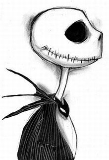 Jack Skellington by Tim Burton Dark Art Drawings, Pencil Art Drawings, Art Drawings Sketches, Disney Drawings, Cute Drawings, Scary Drawings, Drawing Art, Hipster Drawings, Drawing Tips