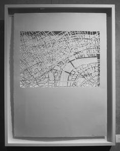 Karen Goetzinger, Bones, 2016, 32,x,26, handcut paper and stitch