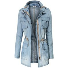 Doublju Womens Lightweight Casual Safari Jackets