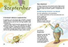 Mozaik Kiadó - Olvasókönyv 2. Kindergarten, Poems, Language, Science, Education, Fictional Characters, Autumn, Rain, Fall Season