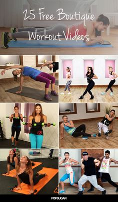 You can work out for free with these 25 videos that give you the boutique fitness studio experience in your living room. Fitness Tips, Fitness Motivation, Health Fitness, Fitness Quotes, Fitness Models, Killer Workouts, Fun Workouts, Strength Workout, Fitness Studio