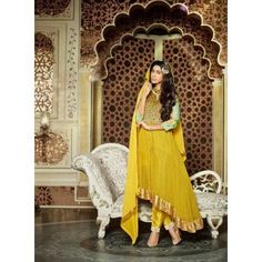 Bajirao Mastani Yellow Net And Georgette Suit