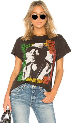e12b44cc Madeworn Snoop Dogg Tee Snoop Dogg, Tank Tops, Tees, T Shirt, Black