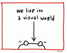 It's a visual world. That's why there's Pinterest.