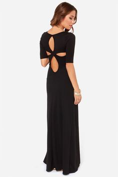 LULUS Exclusive Back to Reality Black Maxi Dress at Lulus.com!