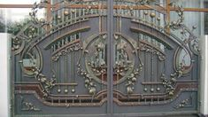 Manufacturer Shutter Doors And Gates India Compound Wall Gate Design, Gate Wall Design, Front Gate Design, Main Gate Design, House Gate Design, House Front Design, Door Design, Metal Gates, Wrought Iron Gates
