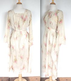 Vintage Edwardian Dress // 1910s 1920s Pink by TrueValueVintage