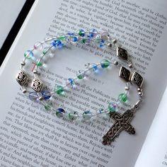 Anglican Rosary / Prayer Beads Art Glass with by TouchingPrayers, $42.00