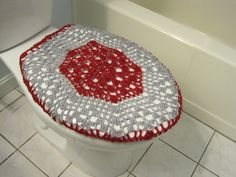 light grey toilet seat. Crochet Toilet Seat Cover or Tank Lid  eggplant light grey TSC7D TTL7D by ytang on Etsy My Handmade Bathroom Beauty Pinterest