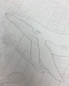Pre-ink. #sketch #drawing #whale #daydreamodyssey #WIP