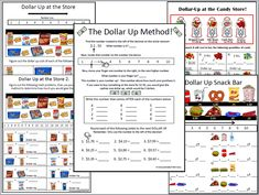Dollar Up Method Money Activities, Make A Change, Worksheets, It Works, Teacher, Amp, How To Plan, Education, Ideas