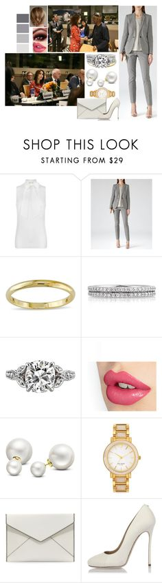 """Untitled #808"" by bellerose-1 ❤ liked on Polyvore featuring MICHAEL Michael Kors, Reiss, Miadora, Mark Broumand, Allurez, Kate Spade, Rebecca Minkoff and Dsquared2"
