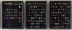 Lego Minifigure Display Wall by Toki~, via Flickr