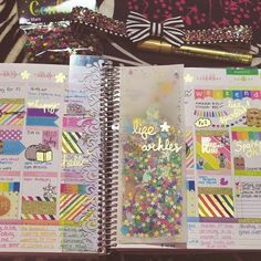 """""""I made this @erincondren planner page marker using vellum paper and confetti. Once I was done, I loved it so much that I made a business card and a few…"""""""