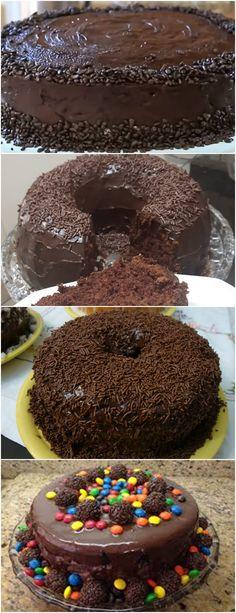 BOLO DE CHOCOLATE DO MEU ANIVERSÁRIO!! ❤️ VEJA AQUI>>>Massa do Bolo: – 3 OVOS – 1+1/2 XÍCARA DE CHÁ (XÍCARA 200 ML) DE AÇÚCAR  #receita#bolo#torta#doce#sobremesa#aniversario#pudim#mousse#pave#Cheesecake#chocolate#confeitaria Chocolate Desserts, Chocolate Cake, Cupcake Cookies, Doughnut, Mousse, Cookie Recipes, Deserts, Food And Drink, Pudding