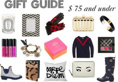 Gift Guide $ 75 and under