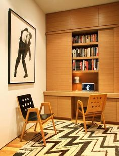 Office Space Inspiration | The Hidden Home Office | Contemporary Artistic