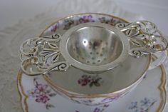 Vintage Tea Strainer....I must go on a flea market treasure hunt for several of these!