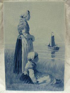RARE, LARGE De Porceleyne Fles - ROYAL DELFT - TILE - 1894 - after D.A.C.