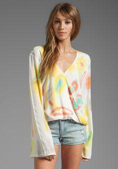 BLU MOON Hayley Long Sleeve #Top in Jungle Tie Dye