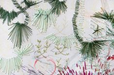 Inspirational Bunch: A Bunch of Embroidery Art - Elumina Creative Embroidery, Embroidery Art, Embroidery Companies, Contemporary Embroidery, Pearl Set, Artist At Work, Colored Pencils, Needlework, Presents