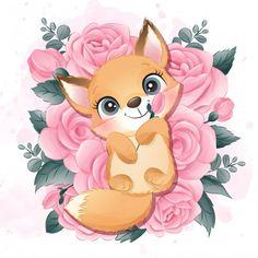 Watercolor Lion, Watercolor Flower Background, Watercolor Illustration, Portrait Illustration, Baby Unicorn, Cute Unicorn, Baby Animal Drawings, Cute Drawings, Baby Cartoon