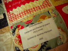 Creating quilt labels for your treasured quilts is one way to ensure that important information about each quilt is preserved.