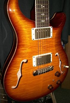 Paul Reed Smith Hollowbody 2 Guitar Jazz Box Hollow Body II Guitar Gold Burst 10
