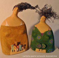Carlotta Parisi sculture - Cerca con Google Paper Mache Projects, Paper Mache Clay, Paper Mache Crafts, Paper Mache Sculpture, Pottery Sculpture, Clay Projects, Sculptures, Ceramic Figures, Clay Figures