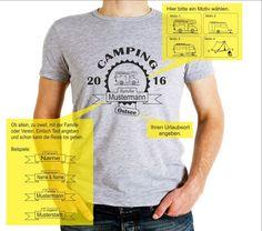 Ihr individuelles Camping-T-Shirt, Familie, Verein, Outdoor,unisex, S-3XL