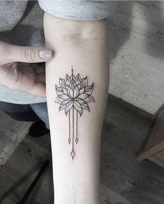 Lotus tattoo on arm