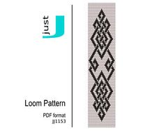 Loom patterns, peyote patterns, beading tutorials from JustJBoutique - Etsy :: Your marketplace to buy and sell handmade items. Loom Bracelet Patterns, Bead Loom Patterns, Beaded Jewelry Patterns, Peyote Patterns, Beading Patterns, Seed Bead Bracelets Diy, Beaded Bracelet, Tablet Weaving Patterns, Bead Loom Designs