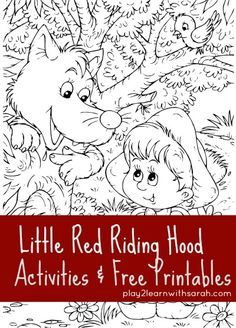 Little Red Riding Hood Activities Free Printables Ridding