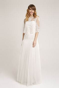 Kelly Bride blouse and Rania Birde skirt. Wonderful two piece bridal look. Bridal Looks, Bride, Wedding Dresses, Blouse, Skirts, Inspiration, Collection, Tops, Design